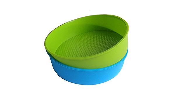 Silikon Form Back Formen 26Cm //10 Zoll Runde Kuchen Form Back Form Blaue B8N2