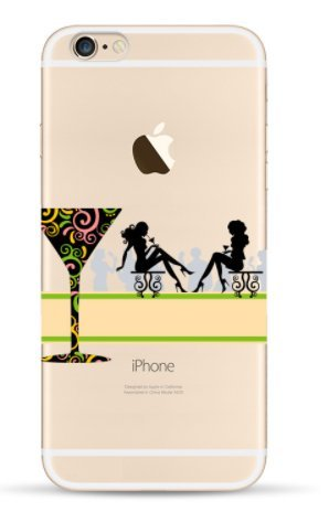 Coque rigide IPHONE 6 PLUS / 6s PLUS - Tansparente avec motif drole DESIGN case + Film de protection OFFERT 17