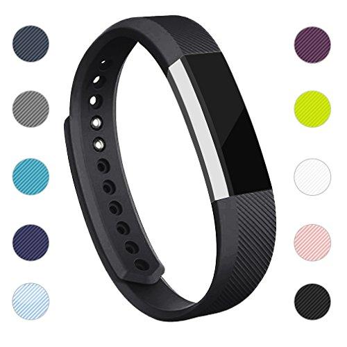 Adepoy Ersatzarmbänder kompatibel für Fitbit Alta/Alta HR, verstellbare Sport Smartwatch Fitness Armband für Frauen Männer Schwarz Klein - Für Männer Sport-armband