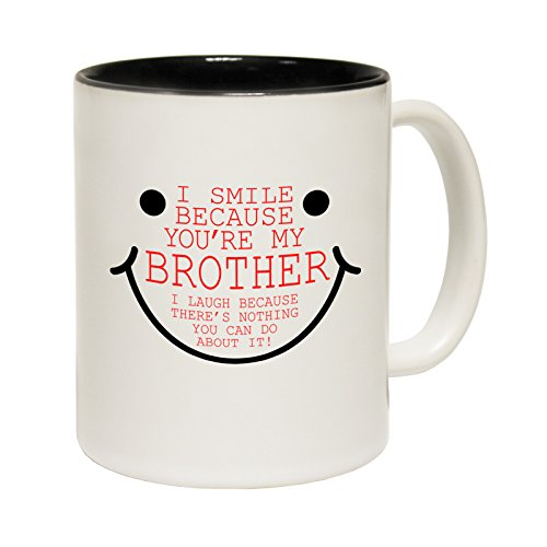 smile-because-your-my-brother-ceramic-mug-slogan-funny-cup-with-black-interior