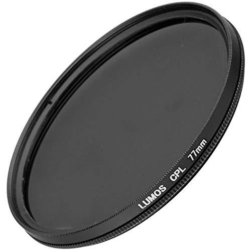 LUMOS Polfilter zirkular 77mm Slim | Kamera Objektiv CPL Pol Filter Polarisationsfilter | optisches Glas schmale Metallfassung Frontgewinde 77 mm für Tamron Sigma Sony Canon Nikon