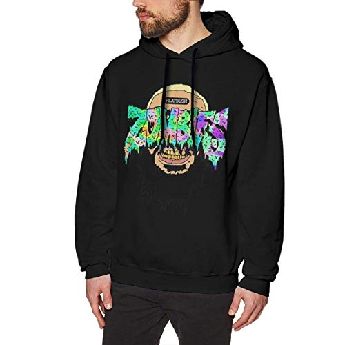 YANNAN Flatbush Zombies Mens Long Sleeve Sweatshirts Men Hoodies Black (Star Sweatshirt Zip-hood)
