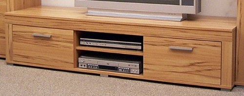 3-2-3-1971: made in BRD – Serie AWK – Lowboard – 2 Klappen – 2 Fächer- Kernbuche dekor – TV-Schrank