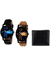 Mikado Kevin Analog Watches Combo Set With One Stylish Wallet For Men And Boy's