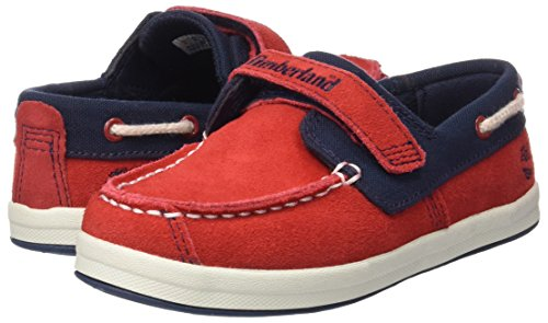 Timberland Unisex Baby Dover Bay H&L Boathaute Lauflernschuhe, Mehrfarbig (Haute Red with Sapphire), 27 EU -