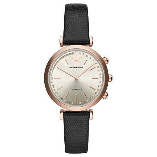 £185.01 Best Emporio Armani Womens Analogue Quartz Watch with Leather Strap ART3027