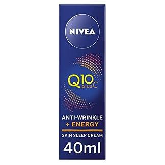 NIVEA Q10 + Vitamina C Antiarrugas + Energy Skin Crema de sueño (40 ml), Energizante Crema de Noche Antiarrugas, Anti-Envejecimiento Hidratante Fórmula, Crema facial para las mujeres