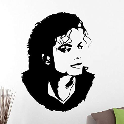 Michael Jackson Wandaufkleber Aufkleber Home Interior American Singer Musik Vinyl Kunst Tanzfläche Zimmer Haus und Garten Dekoration Wandaufkleber Aliexpress.com Schwarz 55x42cm