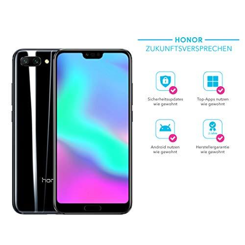 Honor 10 Smartphone (14,83 cm (5,84 Zoll), Full HD+ Touch-Display, 64GB interner Speicher, 4GB RAM, Schwarz - Deutsche Version Tv-touchscreen Handy