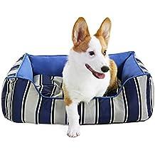 Songmics Cama para perros 60 x 45 cm Impermeable Desenfundable Casa para mascotas Azul PGW21B