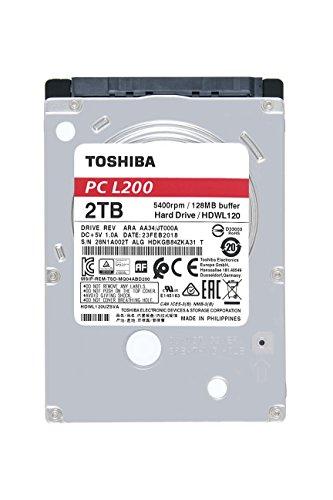 Toshiba HDWL120UZSVA 2 TB L200 6.35 cm (2,5 Zoll) 9,5 mm Mobile Festplatte - 2.5 Notebook Festplatten