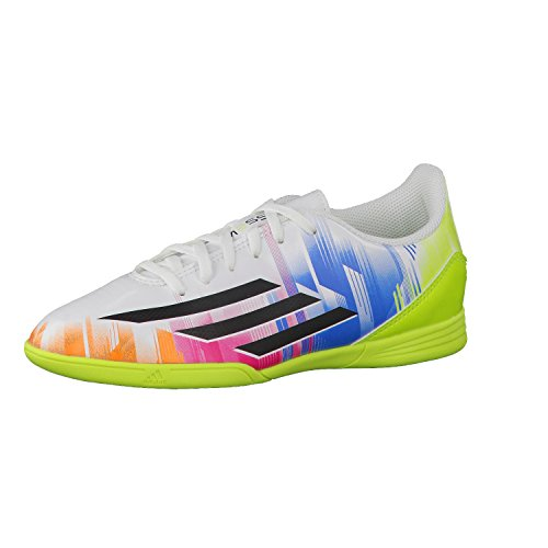 adidas Zapatilla Jr F5 IN Running white-Black-Solar Slime Talla 30