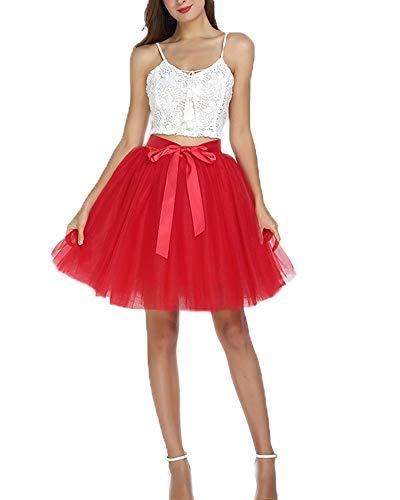 SCFL Frauen Tutu Rock Petticoat Underskirt Ballett Rock Half - Puffy Shirt Kostüm
