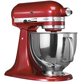 KitchenAid 5KSM150PSECA 300W Red,Silver mixer - Mixers (4.8 L, 220 RPM, Red, Silver, Stainless steel, 300 W, 220-240)