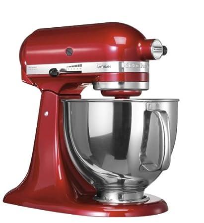 KitchenAid 5KSM150PSECA 300W Rosso, Argento frullatore: Amazon.it ...