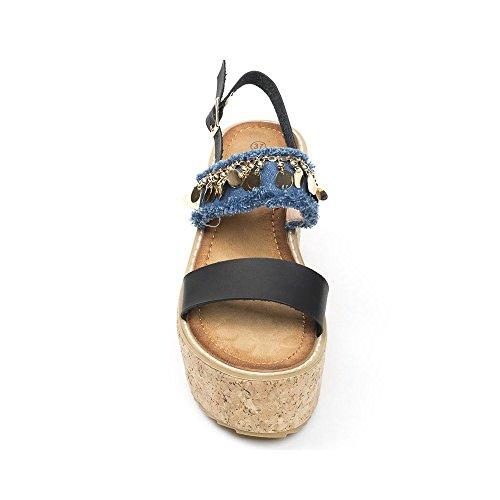 Ideal Shoes ,  Sandali donna Nero