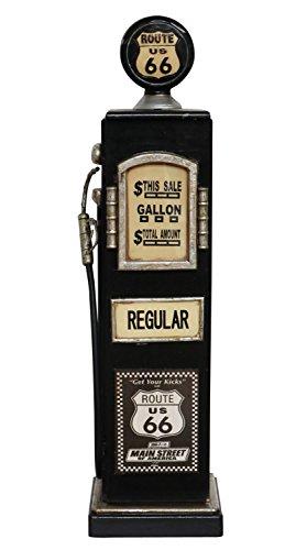 Zapfsäule Tanksäule 87cm CD Regal Schrank Rack CD Ständer Route 66 Minibar
