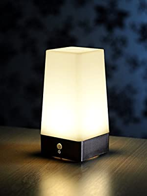 Wireless PIR Motion Sensor Table Lamp Super Bright LED Battery Powered - low-cost UK light shop.