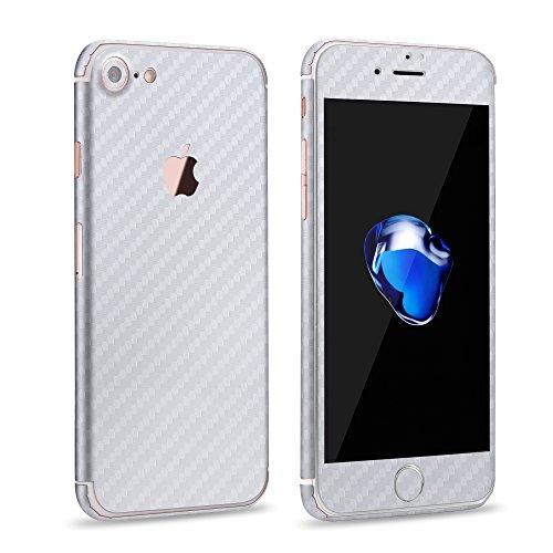 VAPIAO Carbon Skin Protector Schutzfolie für Apple iPhone 6, 6S in Weiß