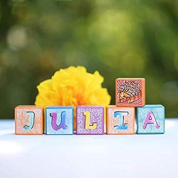 Opa Storch – personalisierte Geschenke Baby | handbemalt | Buchstaben Holz Würfel Buchstaben Baby Buchstabenwürfel Holz…