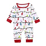 Zarupeng Neugeborenes Baby Strampler Overall & Kinder Pullover Shirt Hose & Mama A Linie Party Cocktailkleid | Familie Pyjamas Nachtwäsche Weihnachten Outfit