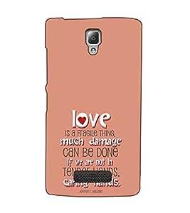 Fuson Designer Back Case Cover for Lenovo A2010 (Love is a fragile thing)