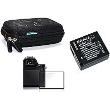 Maxsimafoto - TZ80, ZS60 Kit - LCD Screen Glass Protector, BLG10 Battery & Semi Hard case.