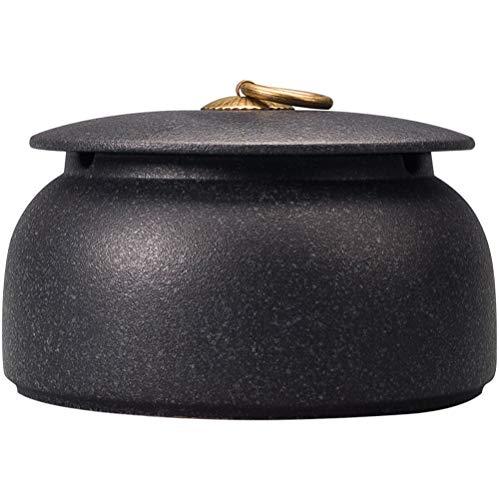 NaNa Posacenere con Coperchio Grande Posacenere in Ceramica per La Casa Cinese Posacenere 15.2X10.5cm (Color : A)