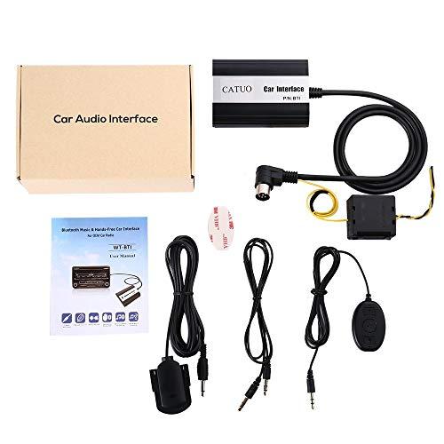 CATUO 3.5mm Entrée CD Qualité Audio sans Fil Media Streamimg Bluetooth Musique et Mains Libres Interface de Voiture pour Volvo Car - Noir