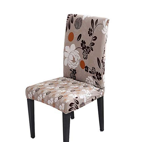 1951d2d93b8c8 Angmile Set of 4PCS Stretch Removable Dining Chair Covers Short Chair  Protector Slipcover with Beautiful Pattern for Home, Hotel, Banquet,  Ceremony, ...