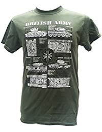 British Army Tanks - World War II / Military T Shirt with blueprint design