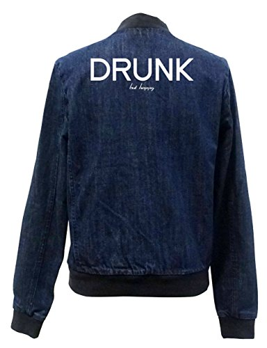 Drunk But Happy Jeans Bomberjacke Certified Freak-XXL