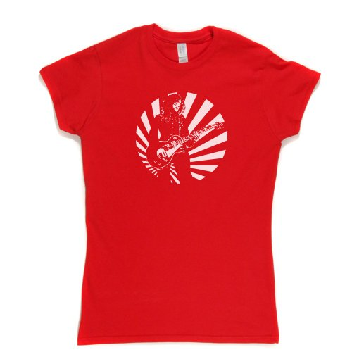 Jimmy Page Sun Womens Fitted T-Shirt Rot