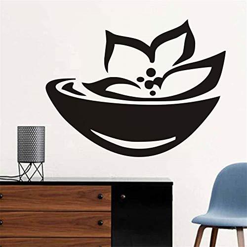 Asian Spa Zeichen Und Symbol Wandaufkleber Lotus Blumen Kunstwand Abnehmbare Selbstklebende Tapete Wohnzimmer Aufkleber Wohnkultur Lila 44 * 34 CM