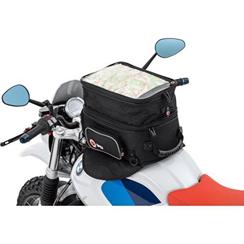 Motorrad Tankrucksack Magnet QBag Tankrucksack 01 Magnet/Riemen, haftstarke Magnete, Riemenbefestigung, 3 Außentaschen, großes getrenntes Hauptfach, formstabil, Tragegriff, Schwarz, 20-27 Liter