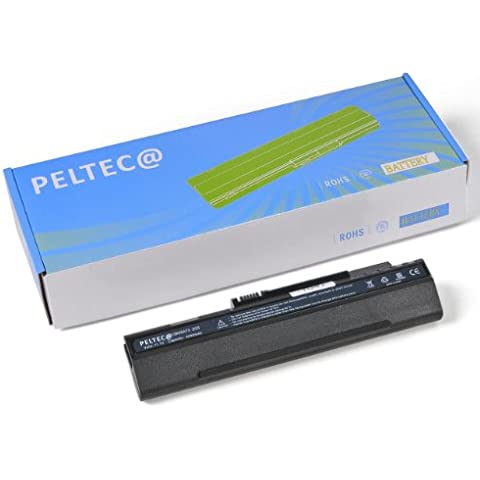 PELTEC@ - Batería de repuesto para portátil Acer Aspire One A150 A150L A150X D150 ZG-5 ZG5 (equivalente a baterías UM08A31 UM08A71 UM08A72 UM08A73 UM08A74 UM08B71 UM08B72 UM08B73 UM08B74 LC.BTP00.017 LC.BTP00.018 934T2780F, 4400 mAh), color