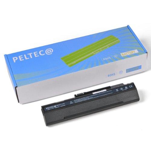 PELTEC @–Batteria di Ricambio per portatile ACER Aspire one A150A150L A150X D150zg-5zg5, equivalente a batterie UM08A31UM08A71UM08A72UM08A73UM08A74UM08B71UM08B72UM08B73UM08B74LC.BTP00.017LC.BTP00.018934T2780F, 4400mAh, colore: nero