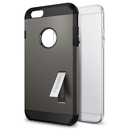 iPhone 6S Plus Hülle, Spigen® [Tough Armor] Schwerschutz [Gunmetal] Doppelte Schutzschicht & Extrem Hoher Fallschutz Schutzhülle für iPhone 6 Plus / 6S Plus Case, iPhone 6 Plus / 6S Plus Cover - Gunme Einfarbig