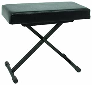 Quik Lok BX/8 Quality Keyboard Bench with Extra-Thick Vinyl Seat