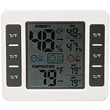 Elenxs Medidor de humedad relativa LCD Digital termómetro higrómetro de interior casero Temperatura