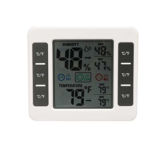 Morza CJ-3316D LCD-Digital-Thermometer-Hygrometer MAX/MIN Digital-Temperatur-Feuchtigkeits-Messinstrument für Baby-Raum
