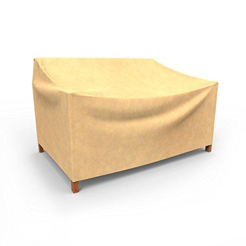 Budge Kleine Allwetter-Abdeckung für zweisitziges Sofa aus Rattan/Bank im Freien P3A01SF1, hellbraun (78,74 x 187,96 x 78,74 cm H x B x T)