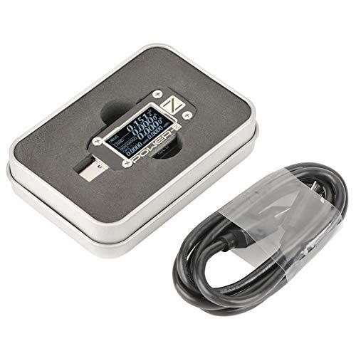 Akozon Digital-USB-Energie-Meter-Prüfvorrichtungen, Art C USB-Prüfvorrichtung OLED-Schirm USB-PD QC 2.0/3.0 Prüfvorrichtung-Spannungs-Strom-Kräuselung Meter Multimeter, Energie-Bank-Detektor(KM001C)