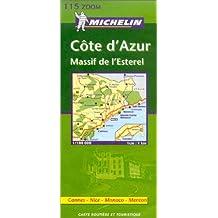 Carte routière : Côte d'Azur - Cannes, Nice, Monaco, Menton, N°11115