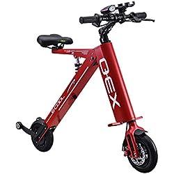 Xiaomu Bicicleta eléctrica Plegable Ligera y de Aluminio, Power Assist, batería de ión Litio de 36 V, con Ruedas de 8 Pulgadas y llanta Hueca sin Aire, Motor de Cubo de 250 vatios,Red