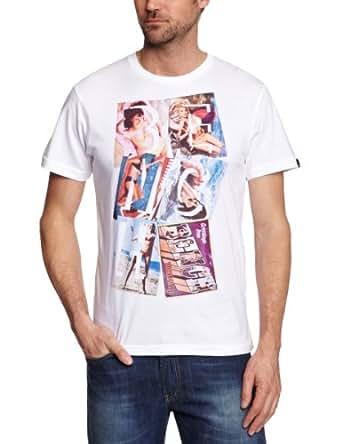 Bench Postcard Logo Men's T-Shirt White Small