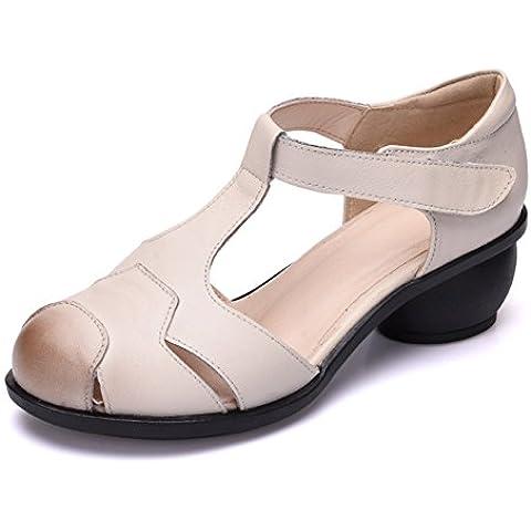 Sandali in pelle/Spessore con sandali
