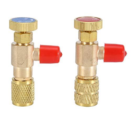 Cafopgrill 2 stücke Flüssigkeit Sicherheitsventil R410A R22 Klimaanlage Kältemittel 1/4