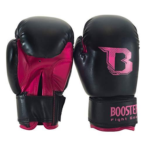Booster Fightgear Boxhandschuhe BT Kids Duo NEON PINK - Für Kinder - Handschuhe für Boxen MMA Kickboxen Sparring Muay Thaiboxen Kampfsport Training für Kinder Kids (10oz)