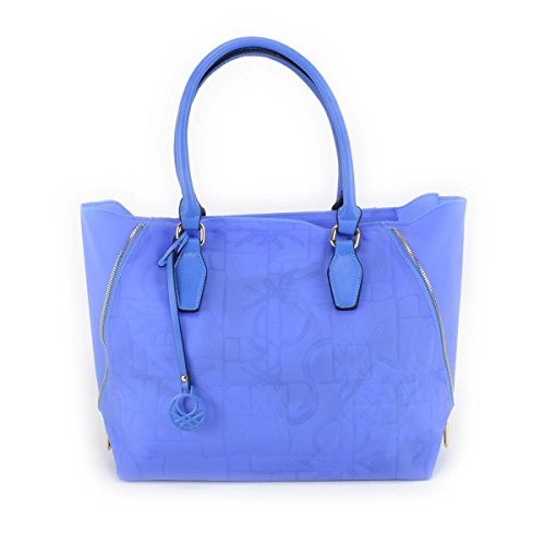 Borsa donna Benetton Shopping in Pvc - Mod. Dana - Col. Blu